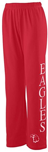 Augusta Sportswear Big Girl's Wicking Fleece Sweatpant, RED, Large