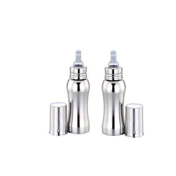 Beautiq Baby Collections Stainless Steel Baby Feeding Bottle Combo(Pack of 2) 300ml and 300ml
