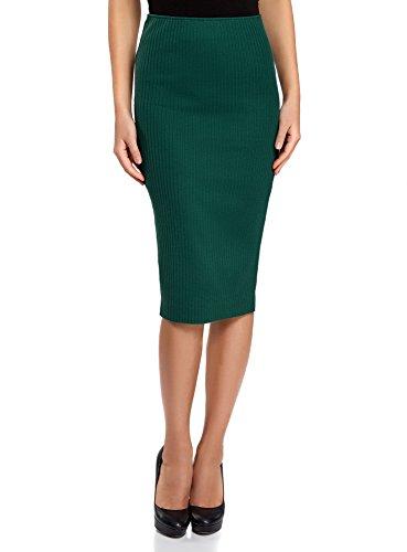 oodji Ultra Femme Jupe  C?tes Taille lastique Vert (6e00n)