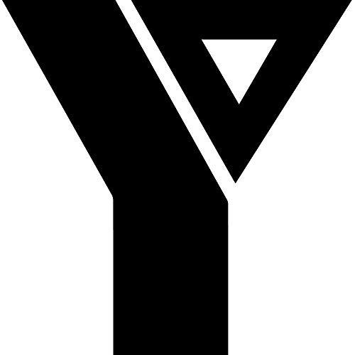 NBFU DECALS Logo YMCA (Black) (Set of 2) Premium Waterproof Vinyl Decal Stickers for Laptop Phone Accessory Helmet CAR Window Bumper Mug Tuber Cup Door Wall Decoration