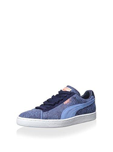 Puma Mens Mis-match Mocka Vrist-high Fashion Sneaker Liten Pojke Blå / Persika