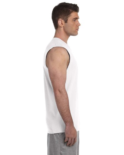 Gildan 2700 - Classic Fit Adult Sleeveless T-Shirt Ultra Cotton - First Quality - White - Small - Adult Ultra Cotton Pocket