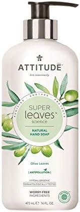 ATTITUDE Super Leaves Jabón de Manos Hojas de Olivo Dosificador ...