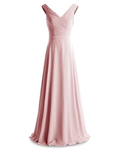 Ausschnitt Brautjungfer V Chiffon Kleider Abendkleider LLY143 Hochzeitsgäste Für Elegante Lilybridal Kleider Ruched Kleider Party Kleider Festliche Blau wqvfXWA