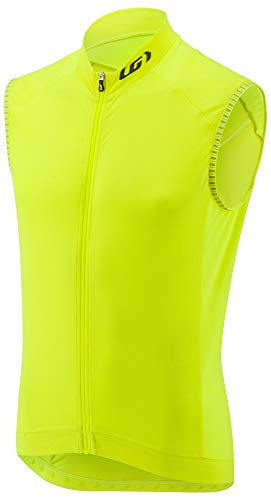(Louis Garneau Men's Lemmon 2 Lightweight, Sleeveless, Full Zip Cycling Jersey, Bright Yellow, X-Large)