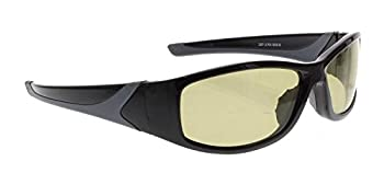 Driving Glasses with Drivewear Polarized Transitional Glasses - Black Extreme Wrap Plastic Frame - Overall Dimensions - Eye Size: 60 Mm, Bridge Size: 18 Mm, Temple Size: 135 Mm