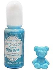 10 g di pigmenti colorati a tinta unita 18 colori UV resina Crystal Glue coloranti DIY Art Craft sigillatura bottiglia Azzurro #10.