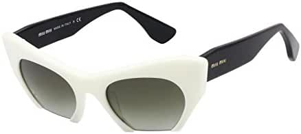 Miu Miu MU10OS Sunglasses-7S3/4M1 Ivory (Green Gradient)-50mm