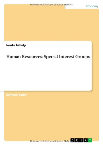 Human Resources: Special Interest Groups