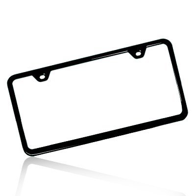 license plate frame black 2 hole - 6