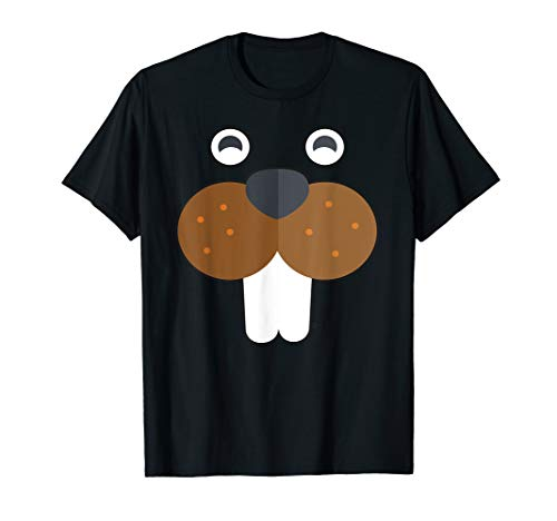 Beaver Face Basic Costume Party T-shirt -