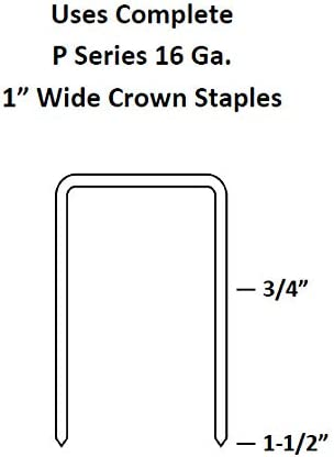 Complete C-W1638S ProGrade 1 Wide Crown Stapler 16 Gauge for 3//4 to 1-1//2 Senco P Staples
