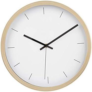 AmazonBasics 12 Modern Wall Clock, Brass