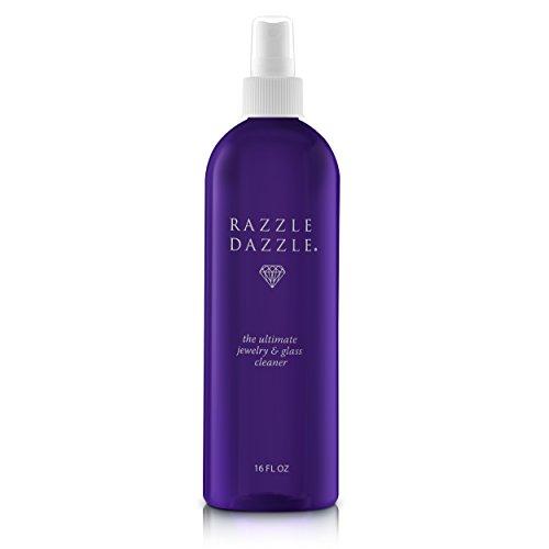 Razzle Dazzle Jewelry, Watch & Glass Cleaner Spray Bottle, 16 oz. (Precious Liquid Jewelry Cleaner 16 Oz Bottle)