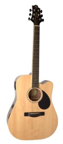 Samick Music Regency D2CE Dreadnought Acoustic-Electric Guitar, Natural