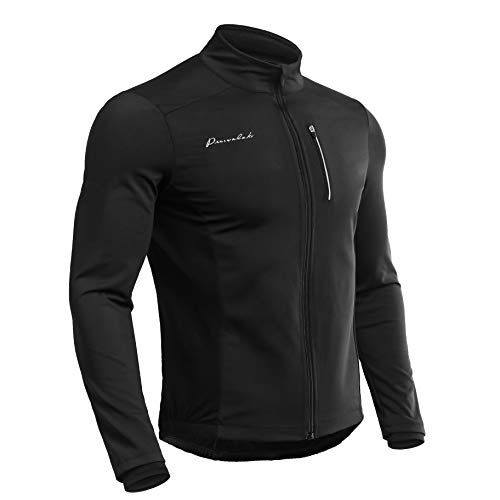 Przewalski Men's Winter Thermal Cycling Bike Jacket, Softshell Windbreaker Running - Windstopper, Breathable Reflective