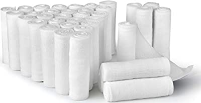D&H Medical 36 Bulk Pack Gauze Stretch Bandage Roll, 3 Inch X 4 Yards FDA Approved, Used for Wound Care, Easy to Use Cotton Ply Rolled Hand Wrap Dressing Ankles & Knees. Add to First Aid Supplies