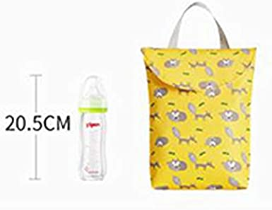 Yellow C 24 * 20 * 5CM Scrox 1Pcs Large Wet Dry Bag Baby Nappy Organizer Bag Waterproof Reusable Cloth Diapers Portable Travel Storage Bag