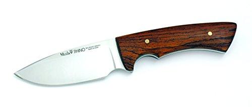 Muela RHINO-10CO Cocobolo Wood Handle Hunting Knife with Leather Sheath Cocobolo Wood Leather Sheath