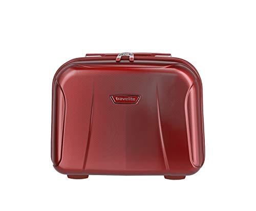 """1c6baf90a Travelite Rollkoffer-Set: Klassisch-Elegante, robuste Hartschalenkoffer  """"Elbe"""" in vielen Größen und Farben Beauty Case, 39 cm, 19 liters, Red (Rot)"""
