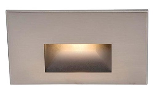 120V Rectangular Scoop Step And Wall Light - Cool White 316 Marine Grade Casted