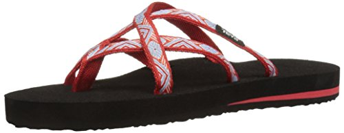 Rouge Tongs Olowahu Teva Femme W's Red isla AwIaPqaE