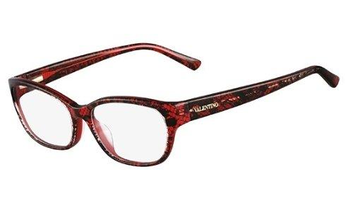 VALENTINO Eyeglasses V2606 615 Red Lace 53MM