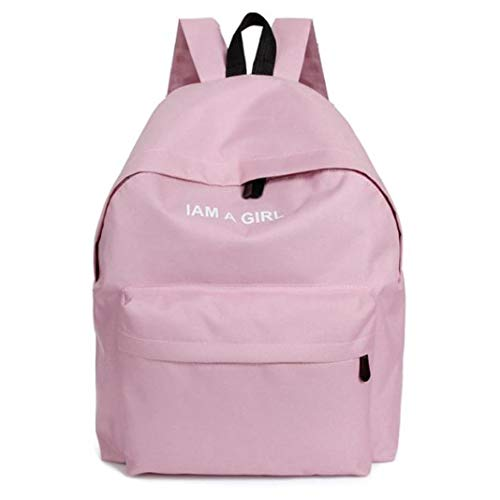 Girls Unisex Bag Pink teenage School Bag Backpack Canvas Rucksack Boys Fashion Daypack Shoulder VPASS Book OqIE6EF