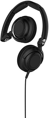 Skullcandy Lowrider Headphones w Mic Black Black Black, One Size