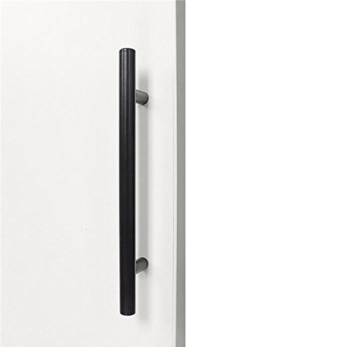 color negro dise/ño en forma de barra ideal para armarios de cocina incluye tornillos Margueras Lote de 20 tiradores de acero inoxidable de 128/mm