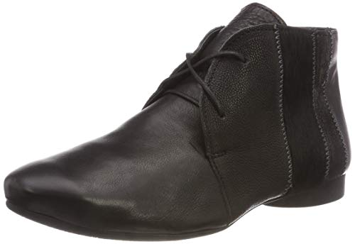 Sz Derby Zapatos Guad Cordones 383274 Negro Mujer de Kombi para 09 Think EXqwvgg