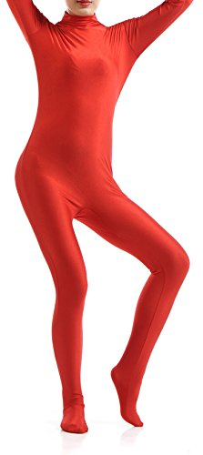 [VSVO Unisex Skin-Tight Spandex Full Body Suit for Adults and Children (Medium, Red)] (Red Morph Suit)
