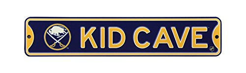 Authentic Street Signs NHL Hockey Officially Licensed STEEL Kid Cave Sign-Decor for sports fan bed room! (Buffalo Sabres) from Authentic Street Signs