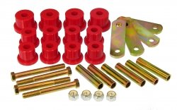 Prothane 7-1056 Red Rear Mono Leaf Spring Eye and HD Shackle Bushing Kit