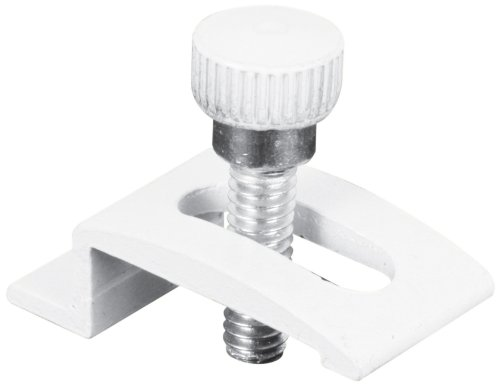 Prime-Line Products T 8725 Storm Door Panel Clip with Screws, 1/4-Inch, White,(Pack of 8)