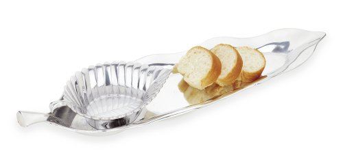 Reed & Barton Arbor Collection Bread Tray with Dipping Bowl (Barton Arbor Collection)