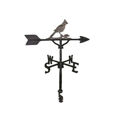 Weathervane Cardinal (Montague Metal Products 32-Inch Weathervane with Swedish Iron Cardinal Ornament)