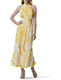 Women's Sleeveless Mock Neck Halter Dress