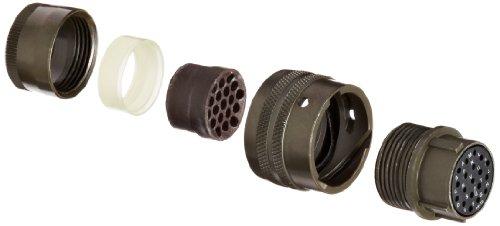 Amphenol Industrial PT06E-14-19S Circular Connector Socket, Environmental Resisting, Bayonet Coupling, Solder Termination, Straight Plug, 14-19 Insert Arrangement, 14 Shell Size, 19 Contacts