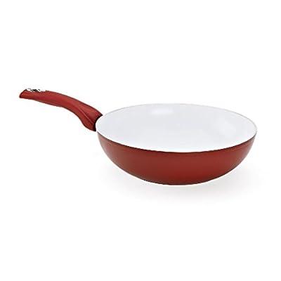 Cherry Queen Bialetti 7193 Aeternum Stir Fry Pan 11-Inch Red