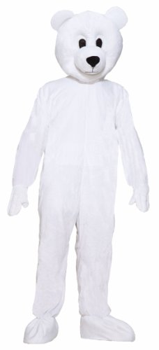 Forum Novelties Men's Norm The Nordic Bear Plush Mascot Costume, White, One Size ()
