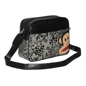 74c413b90db Paul Frank Zip Up Despatch Shoulder Bag In Black And Grey With Snake Print:  Amazon.co.uk: Clothing