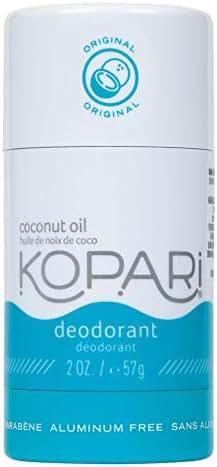Kopari Aluminum-Free Deodorant   Non-Toxic, Paraben Free, Gluten Free & Cruelty Free Men's and Women's Deodorant   Made with Organic Coconut Oil   2.0 oz