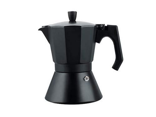 Espressokocher Material alminio + ASS Kompatibel mit Gasherd bis 440Gramm Kaffee schwarz