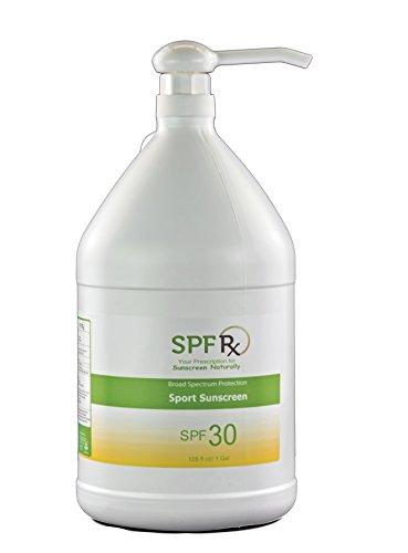 (SPF Rx SPF 30 Sport Lotion- Water Resistant Sunscreen Broad Spectrum UVA & UVB Protection Non Greasy Residue Sunscreen Bulk, 1 Gallon)