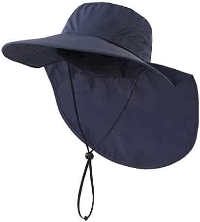 f7959594 Home Prefer Outdoor UPF50+ Sun Hat Wide Brim Mesh Fishing Hat with Neck Flap