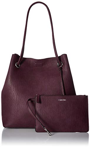 Calvin Klein Gabrianna Bubble Lamb North/South Key Item Tote