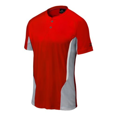 Mizuno Baseball Jersey - Mizuno 350527.1091.06.L Elite 2-Button Jersey L Red-Grey