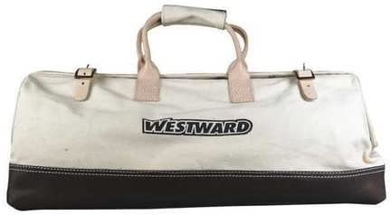Tool Bag,Canvas w/Leather,Buckle Closure