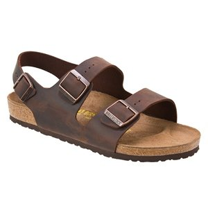 Birkenstock Milano Sandal - Men's Habana Oiled Leather, 43.0 (Birkenstock Milano Leather)